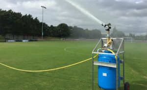 Long reach irrigation in action at Bristol football club