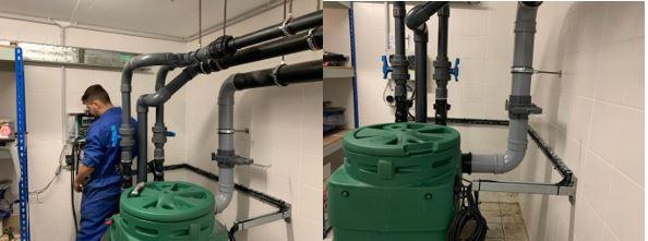 Mawdsleys engineer installing new wastewater pump